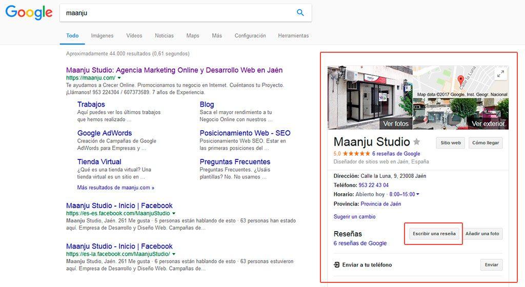 Maanju en Google