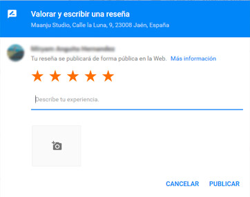 Reseña Google Negocio